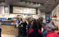 Line 'Em Up! The Lebanon Bands' Jimmy John's fundraiser is in full swing. Picture courtesy of Mr. Stewart.