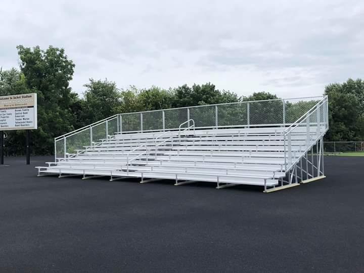 New+Band+Bleachers+have+arrived.+The+band+raised+%2418000+in+fundraisers+and+donations+for+the+new+bleachers
