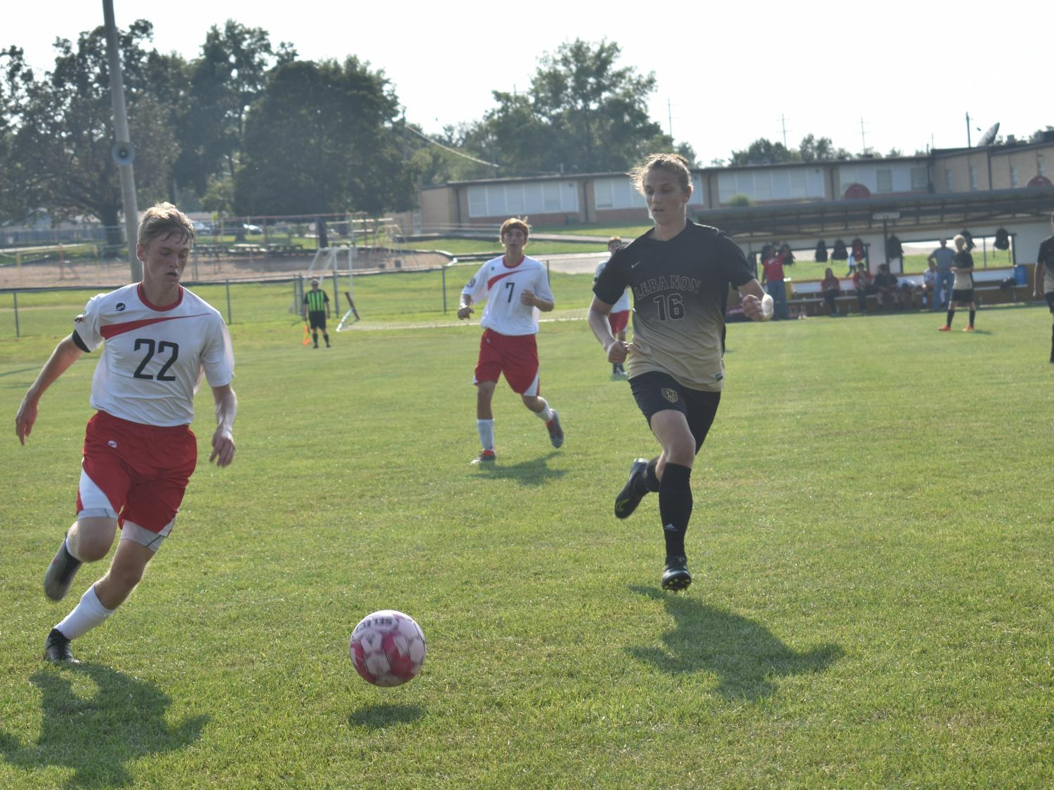 Senior Dillon Baker guards a player during the game against Dixon on September 6th. The Jackets won 6-0.