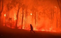 As fires rage across Australia, people rush to evacuate and help out.