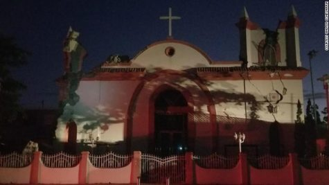 The Inmaculda Concepion church in Guayanilla, Puerto Rico, was damaged in Tuesday