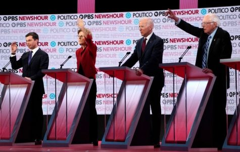 Last December's Democratic Debate, hosted by Politico/PBS news-hour. The top 4 candidates vie for airtime on a specific issue.